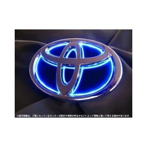 Junack ジュナック LED トランス エンブレム トヨタ VOXY ヴォクシー 80 前期/後期共通 ( フロント LTE-T3S / リア LTE-T6S ) 前後セット シナジータイプ|felice-inc-shop