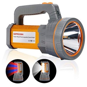 懐中電灯led 強力充電式 最強 超高輝度ルーメン フラッシュライト大型電池10000MAH バッテリー ハンディライト明るい サーチライトの画像