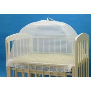 タナカ 日本製 ワンタッチ式 洗えるベビー蚊帳 無地 白 ミニベビーベッド 床畳用|felicevoice-store