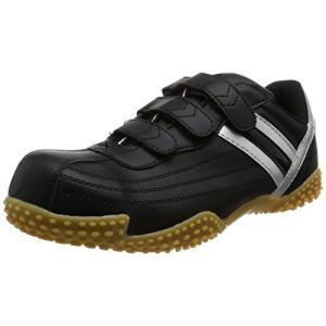 [ヘイギ] 安全靴 ワイド先芯入り セーフティーシューズ マジックタイプ HG-1501M ブラック 27 cm|felicevoice-store
