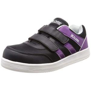 [クロスプロレ] 厚底セーフティ作業靴 安全靴 メンズ ブラック/パープル 26.5 cm 3E|felicevoice-store