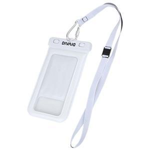 防水ケース スマホ DIVAID 水に浮く iPhone7 iPhone6s 5.8インチまで対応 IP68 / ホワイト|felicevoice-store