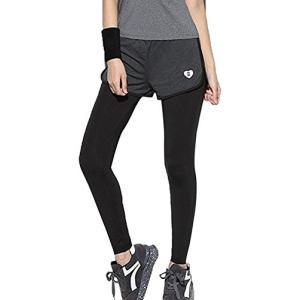 [GiGant] 一体型 スパッツ レギンス フィットネスパンツ タイツ スポーツ パンツ ランニングウェア ジム レディー|felicevoice-store