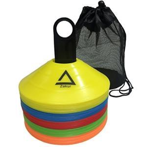 Zakur マーカーコーン カラーコーン 割れにくい サッカー フットサル 用品 (5色セットA, 50枚) felicevoice-store