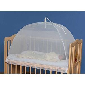 タナカ 日本製 ワンタッチ式 洗えるベビー蚊帳 無地 白 ベビーベッド 床畳用|felicevoice-store