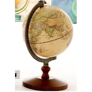 木製 全体サイズ 約14.5×高さ21cm 球径 約13cm ホーム&キッチン/インテリア/置物・オ...