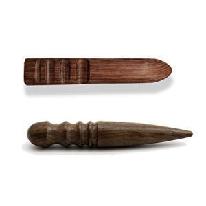 レザークラフト愛好家のコバ磨きに欠かせない工具であるコーンスリッカーの2本セットです。革製品の縁をコ...