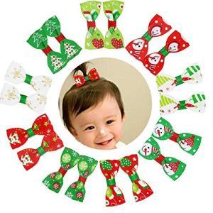 Oujyo ヘアクリップ ヘアピン ベビーヘアクリップ  クリスマス 新年用ヘアアクセサリー  髪飾り 18個セ|felicevoice-store