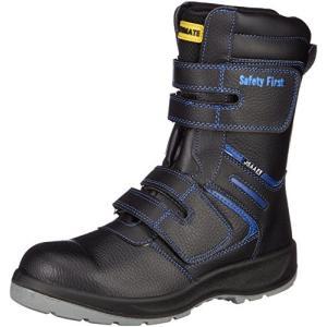 [フジテブクロ] 安全靴 作業靴 半長靴 マジック 耐油 JSAA A種 先芯入 4E 9088 ブラック 26.5 cm|felicevoice-store
