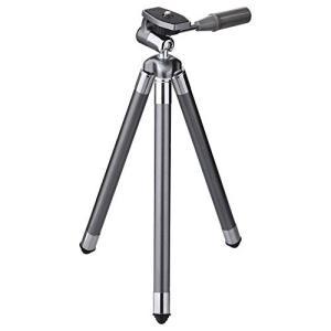 コンパクトカメラや小型ムービーに便利な携帯しやすい三脚 収縮時はわずか27cmながら最長107cmま...