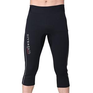 ウェットスーツ ネオプレン サーフィン パンツ メンズ 1.5mm ダイビングパンツ マリンスポーツ Lサイズ ブラック|felicevoice-store