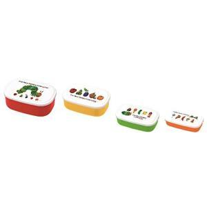 「はらぺこあおむし」の、入れ子型でコンパクトに収納できる4サイズがセットになったランチボックスです。...