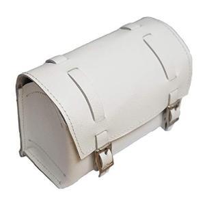 BROMPTON ブロンプトン用 小型 本革 フロントバッグ/ホワイト (Mini Leather front bag for BROMPTON/White)|felicevoice-store