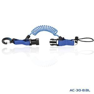 PROBLUE[プロブルー]スナッピーコイル水中ライト・デジカメホルダーAC-30-8 (ブルー)|felicevoice-store