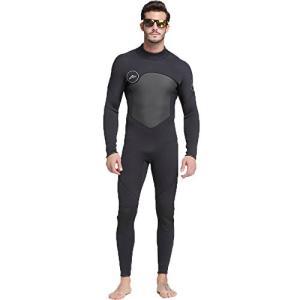 ウェットスーツ メンズ 3mm フルスーツ ロングスリーブ ダイビング サーフィン (M)|felicevoice-store