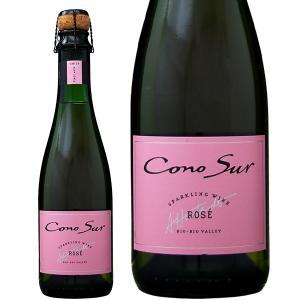 ロゼワイン チリ 同一商品12本購入で送料無料 コノスル スパークリング ブリュット ロゼ ハーフ 375ml チリ sparkling wine|felicity-y