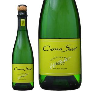 スパークリングワイン チリ 同一商品12本購入で送料無料 コノスル スパークリング ブリュット ハーフ 375ml sparkling wine|felicity-y