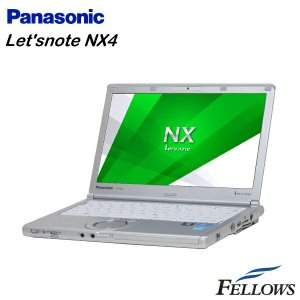 ノートパソコン Panasonic Let'snote CF-NX4 カメラ   無線LAN Office付き Windows8.1 Pro 64bit  Core i5-5300U/4GB/128GB SSD 中古 パソコン|fellows-store