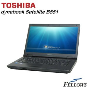 ノートパソコン 東芝 dynabook Satellite B551/C A4 15.6インチ 高性能 無線LAN Office付き Windows7 Pro 32bit Core i5-2520M/4GB/250GB/MULTI 中古 パソコン|fellows-store