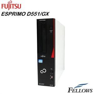 デスクトップ 富士通 ESPRIMO D551/GX  省スペース Office付き Windows10 Home 64bit ( Core i3-3240/4GB/500GB/MULTI)  中古パソコン|fellows-store
