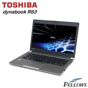 ノートパソコン 東芝 dynabook R63/P B5 13.3インチ  無線LAN Office付き Windows8.1 Pro 64bit Core i5-5300U/4GB/128GB SSD 中古 パソコン|fellows-store