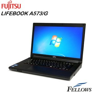 ノートパソコン 富士通 LIFEBOOK A573/G A4 15.6インチ 高性能 HDMI USB3.0 無線LAN Office付き Windows7 Pro 64Bit  Core i5-3340M/4GB/320GB/DVD 中古パソコン|fellows-store|01