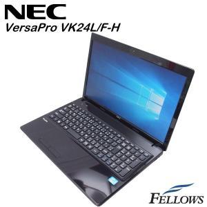 ノートパソコン NEC VersaPro VK24L/F-H  テンキー カメラ付き  無線LAN Office付き Windows10 Home 64bit (Core i3-3110M/4GB/320GB HDD)中古 パソコン|fellows-store