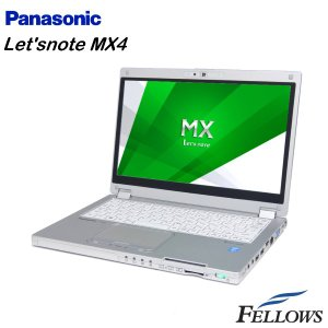 ノートパソコン Panasonic Let'snote CF-MX4 カメラ タッチパネル  無線LAN Office付き Windows8.1 Pro 64bit  Core i5-5300U/4GB/128GB SSD 中古 パソコン|fellows-store