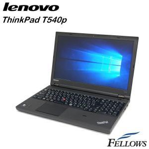 特価品ノートパソコン Lenovo ThinkPad  T540p  フルHD テンキー 指紋 カメラ 無線LAN Office付き Windows10 Home 64bit  中古 パソコン|fellows-store