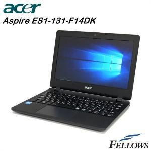 ノートパソコン acer Aspire ES1-131-F14D/K HDMI カメラ 無線LAN WPS Office付き Windows10 Home (Celeron N3050 /4GB/500GB) 中古 パソコン|fellows-store
