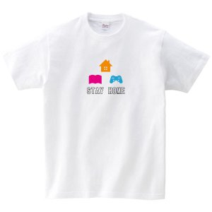 STAY  HOME Tシャツ 新型コロナ撲滅Tシャツ 白|fellows7