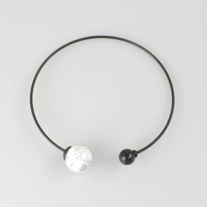 OSKLEN 白黒天然石チョーカー|femme