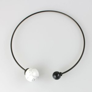 OSKLEN 白黒天然石チョーカー|femme|05