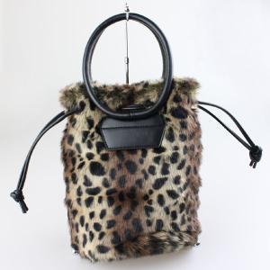 フェイクファーレオパードバッグ|femme