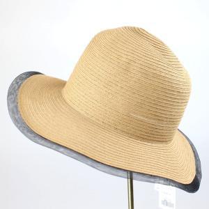 ヒロココシノ ベージュメッシュトリミング帽子|femme