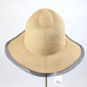ヒロココシノ ベージュメッシュトリミング帽子|femme|02