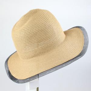 ヒロココシノ ベージュメッシュトリミング帽子|femme|03