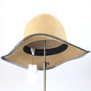 ヒロココシノ ベージュメッシュトリミング帽子|femme|04