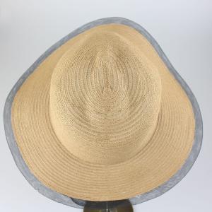 ヒロココシノ ベージュメッシュトリミング帽子|femme|05