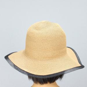 ヒロココシノ ベージュメッシュトリミング帽子|femme|06