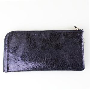 メタリックパープル長財布|femme