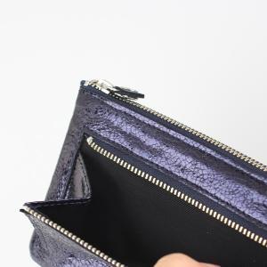 メタリックパープル長財布|femme|05