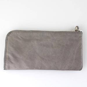 グレー革長財布|femme