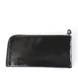黒エナメル長財布|femme