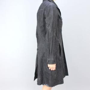 GOKI ゴキ グレーストライプ麻コート|femme|03