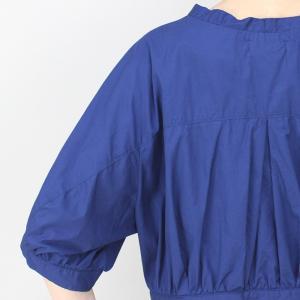 アコーレ ブルー半袖スキッパーショート丈ブラウス|femme|15