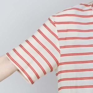 センソユニコ 赤ボーダーサイドリボン半袖ブラウス|femme|12