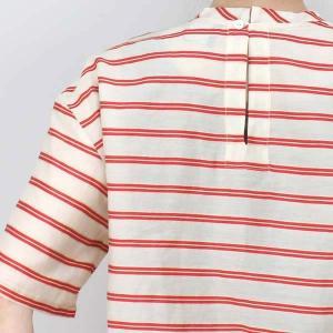 センソユニコ 赤ボーダーサイドリボン半袖ブラウス|femme|15