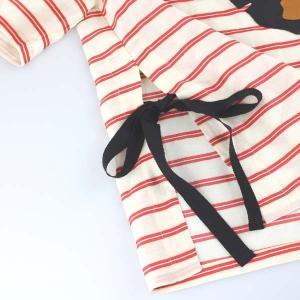 センソユニコ 赤ボーダーサイドリボン半袖ブラウス|femme|19