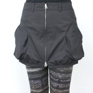 ファスナー付き黒カバースカート|femme